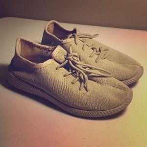 Khaki Qupid Tennis Shoes